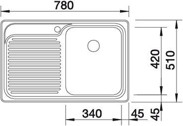 Мойка для кухни Blanco CLASSIC 4 S купить (вид сверху)