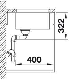 Мойка для кухни Blanco SUBLINE 700-U Level купить (вид сбоку)