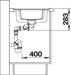 Мойка для кухни Blanco CLASSIC Pro 6 S-IF (вид сбоку)