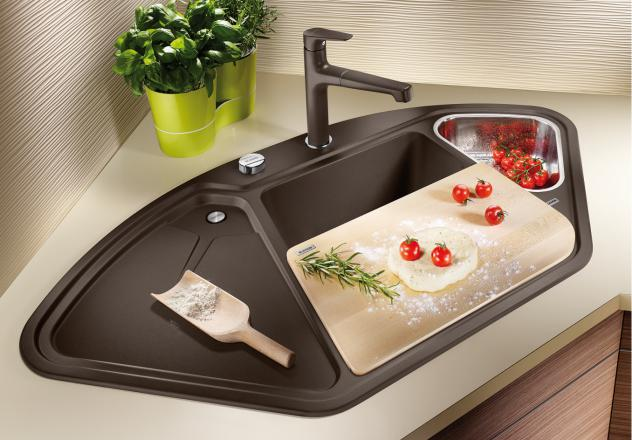 Угловая мойка для кухни Blanco DELTA II