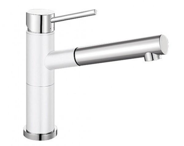 Смеситель для кухни Blanco ALTA Compact Silgranit ХРОМ / БЕЛЫЙ Артикул 515327 купить