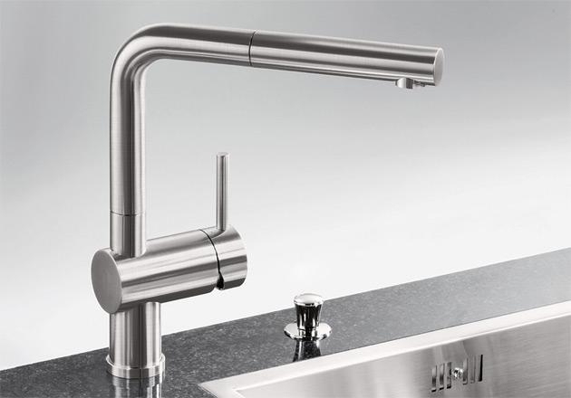 Смеситель для кухни Blanco LINUS-S ХРОМ Рычаг справа Артикул 517184