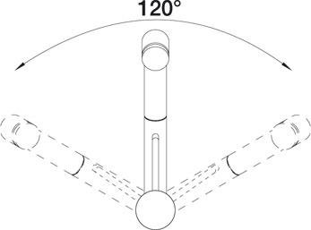 Смеситель для кухни BLANCO TIVO-S угол поворота