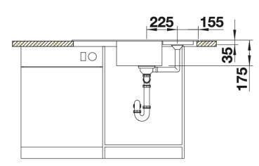 Мойка для кухни Blanco CLASSIC 9 E Вид спереди