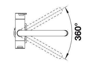 Смеситель для кухни BLANCO TRIMA с краном питьевой воды (угол поворота)