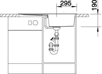 Мойка для кухни Blanco METRA 5 S Silgranit купить (вид спереди)