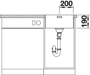 Мойка для кухни Blanco ANDANO 400-IFA вид спереди