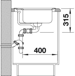 Мойка для кухни Blanco CLASSIC 8 вид сбоку