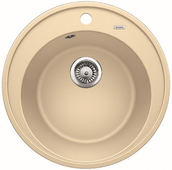 Круглая кухонная мойка Blanco RIONA 45 Silgranit ШАМПАНЬ Артикул 521400 купить