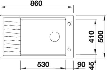Рис. 3. Мойка Blanco ELON XL 8 S (вид сверху)