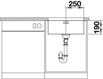 Мойка для кухни Blanco ANDANO 500-U купить (вид спереди)