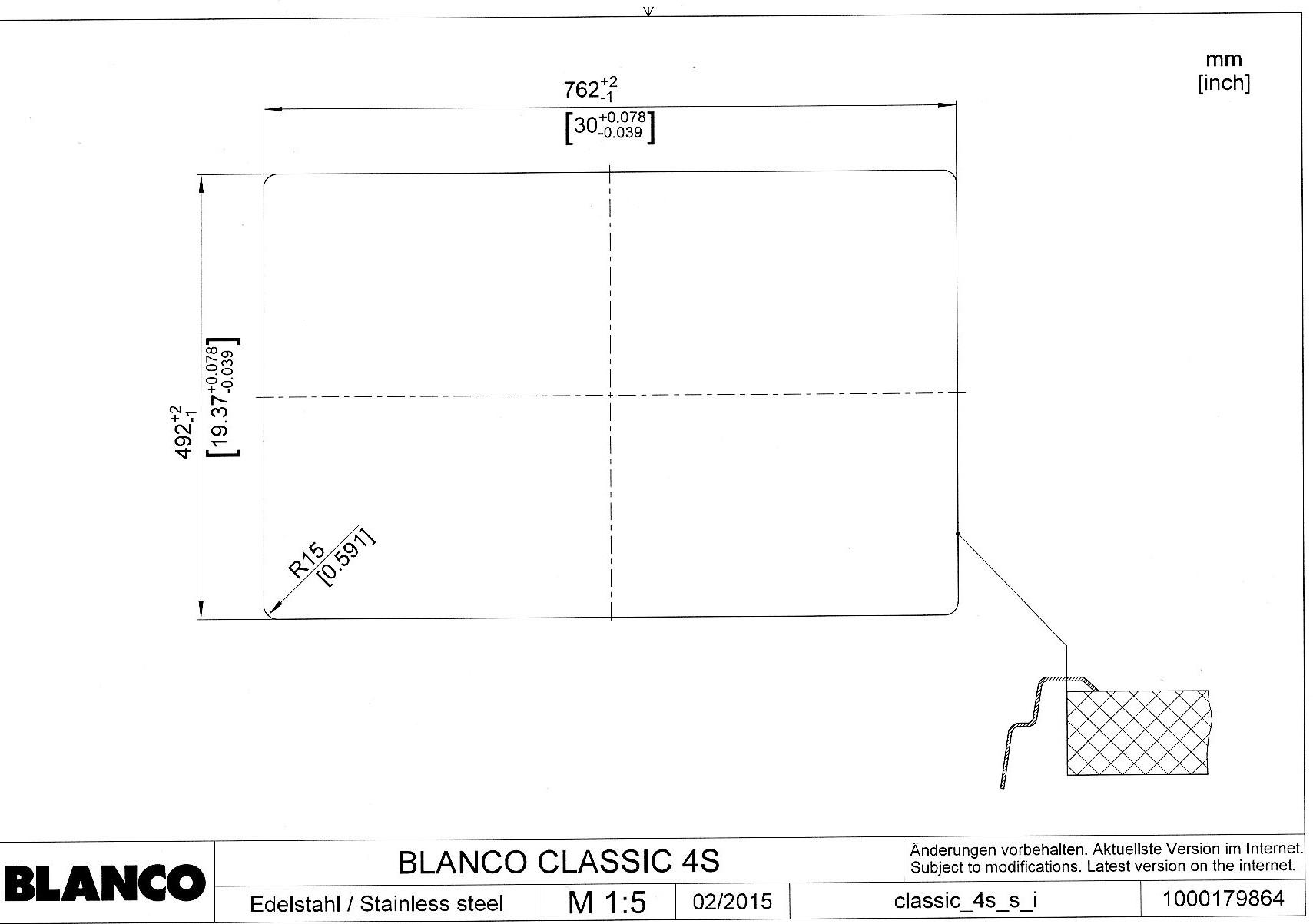 Мойка для кухни Blanco CLASSIC 4 S_врезная