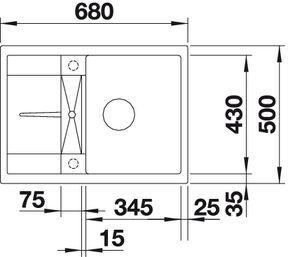 Мойка для кухни Blanco METRA 45 S Compact купить(вид сверху)