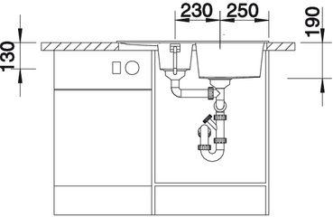 Мойка для кухни Blanco METRA 6 S Compact купить (вид спереди)