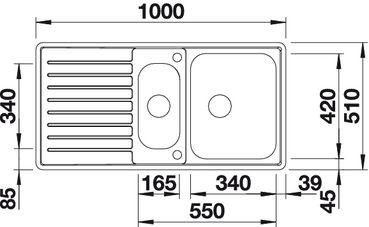 Мойка для кухни Blanco CLASSIC Pro 6 S-IF (вид сверху)
