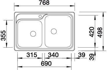 Мойка для кухни Blanco CLASSIC 8-IF вид сверху