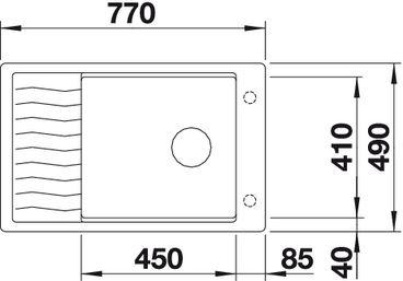 Мойка для кухни Blanco ELON XL 6 S-F Silgranit (вид сверху)