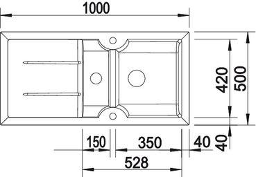Мойка для кухни BLANCO IDESSA 6 S_размер_4