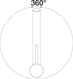 Смеситель для кухни BLANCO TIVO (угол поворота)