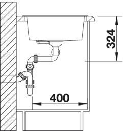 Мойка для кухни Blanco METRA 9 Silgranit купить (вид сбоку)