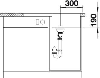 Мойка для кухни Blanco NOVA 45 S Silgranit купить (вид спереди)