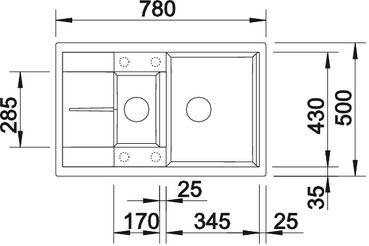 Мойка Blanco METRA 6 S Compact купить (вид сверху)