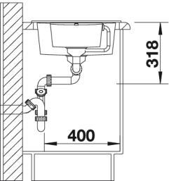 Мойка для кухни Blanco METRA 6 S Compact купить (вид сбоку)