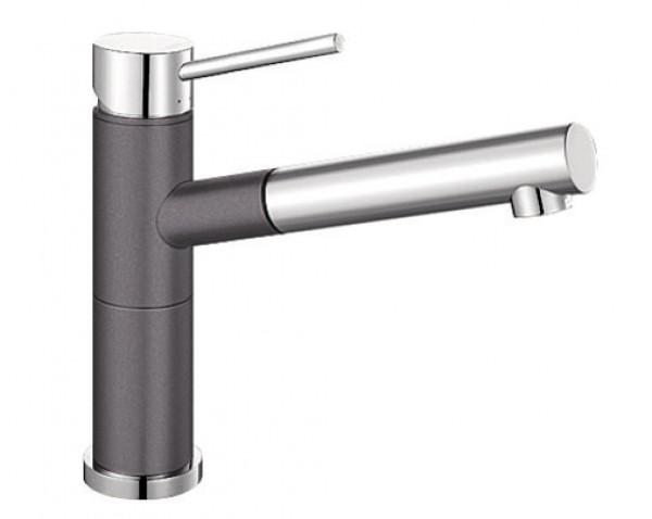 Смеситель для кухни Blanco ALTA Compact Silgranit ХРОМ / ТЕМНАЯ СКАЛА Артикул 518809 купить