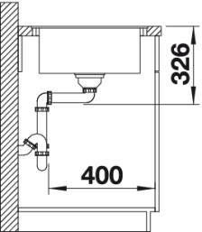 Мойка для кухни Blanco ELON XL 6 S-F Silgranit вид сбоку