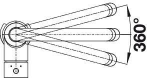 Смеситель для кухни Blanco MIDA-S хром (угол поворота)