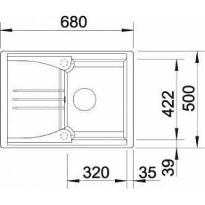 Мойка для кухни Blanco ENOS 40 S купить (вид сверху)