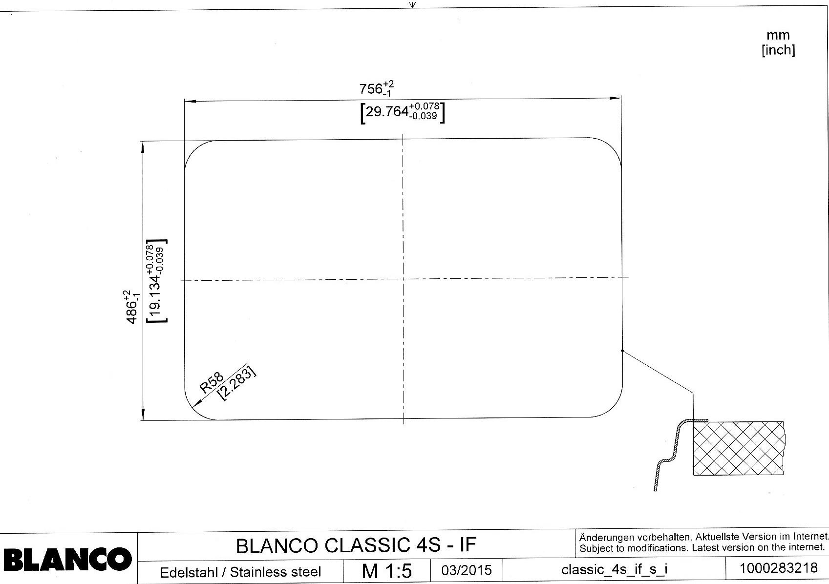 Мойка для кухни Blanco CLASSIC 4 S-IF (врезной метод установки)