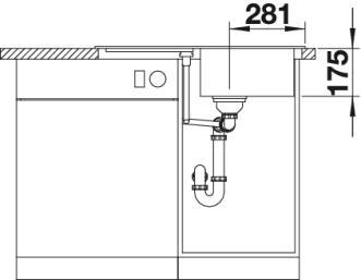 Мойка для кухни Blanco CLASSIC 45 S Silgranit купить (вид спереди)
