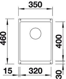 Мойка для кухни Blanco SUBLINE 320-U Silgranit купить (вид сверху)