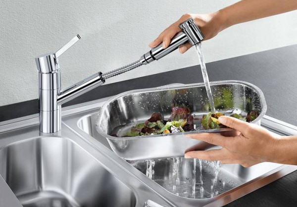 Смеситель для кухни BLANCO TIVO-S выдвижной излив