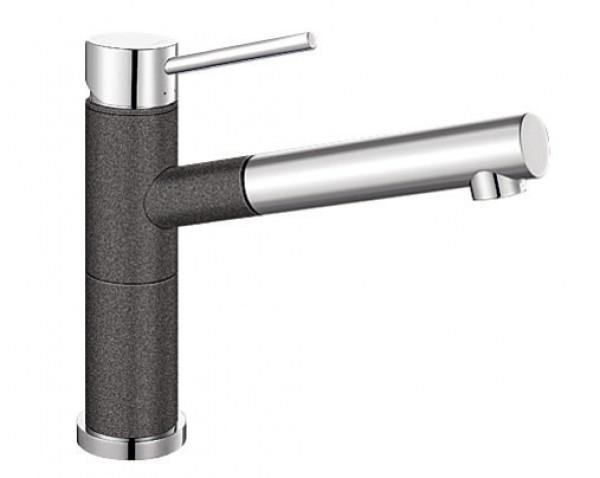 Смеситель для кухни Blanco ALTA Compact Silgranit ХРОМ / АНТРАЦИТ Артикул 515333 купить