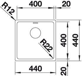 Мойка для кухни Blanco ANDANO 400-IF Вид сверху