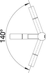 Купить смеситель с поворотным изливом Blanco ZENOS-S Silgranit (угол поворота)