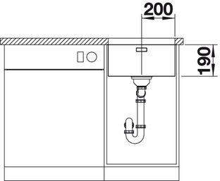 Мойка для кухни Blanco ANDANO 400-U купить (вид спереди)