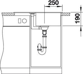 Мойка для кухни Blanco METRA 45 S Compact купить (вид спереди)