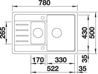 Мойка с двумя чашами Blanco LEGRA 6 S Compact купить (вид сверху)