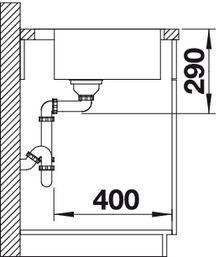 Мойка для кухни Blanco ANDANO 400-IFA вид сбоку