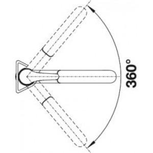 Однорычажный смеситель для кухни Blanco BRAVON-S купить (угол поворота)