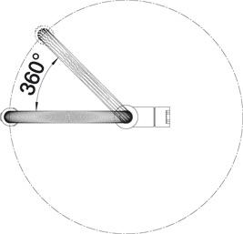 Смеситель для кухни Blanco CULINA-S (угол поворота)