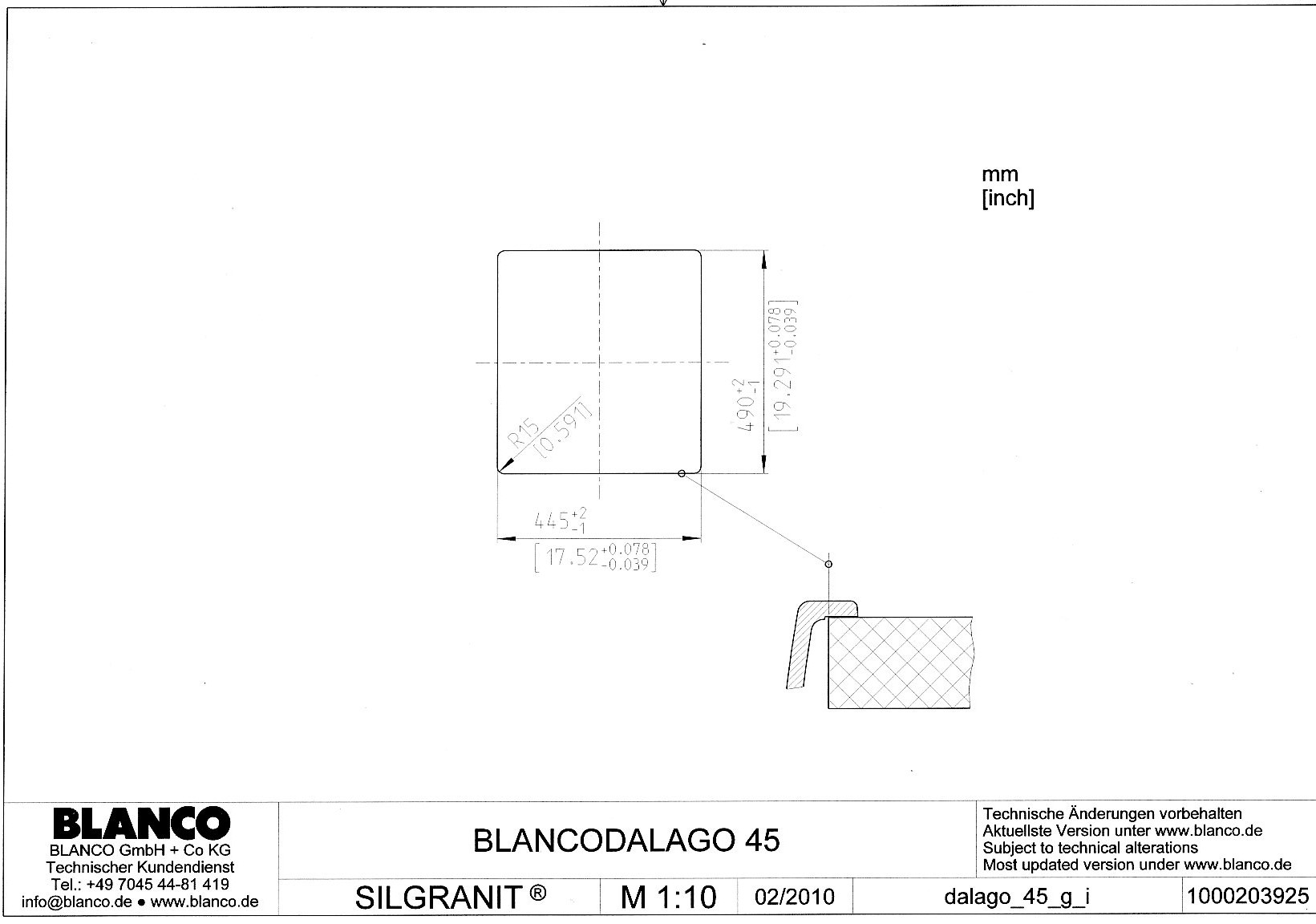 Мойка для кухни Blanco DALAGO 45 Silgranit купить
