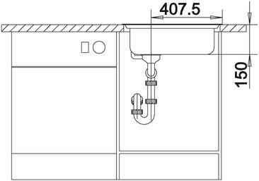 Мойка для кухни Blanco DANA-IF купить (вид спереди)