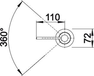 Дозатор жидкого моющего средства Blanco PIONA купить (угол поворота)