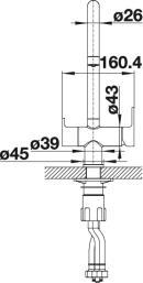 Смеситель под фильтр Blanco TRIMA (вид сбоку)