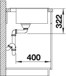 Круглая кухонная мойка Blanco RIONA 45 Silgranit купить (вид сбоку)