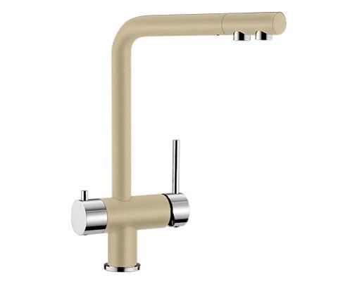 Купить смеситель с питьевой водой Blanco FONTAS Silgranit  ХРОМ / ШАМПАНЬ  Артикул 518508